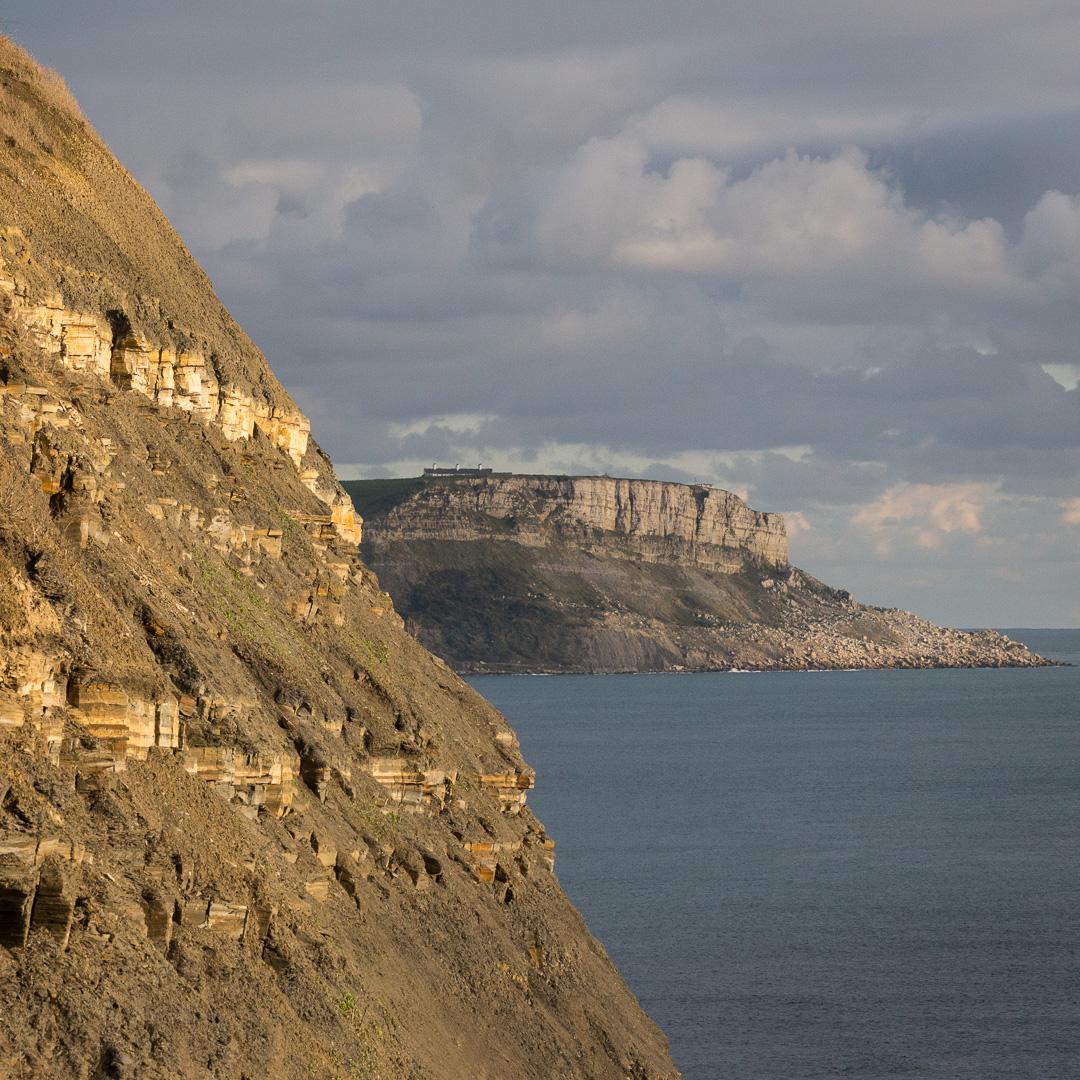 St. Aldhelm's Head, from Kimmeridge Ledges, Dorset.