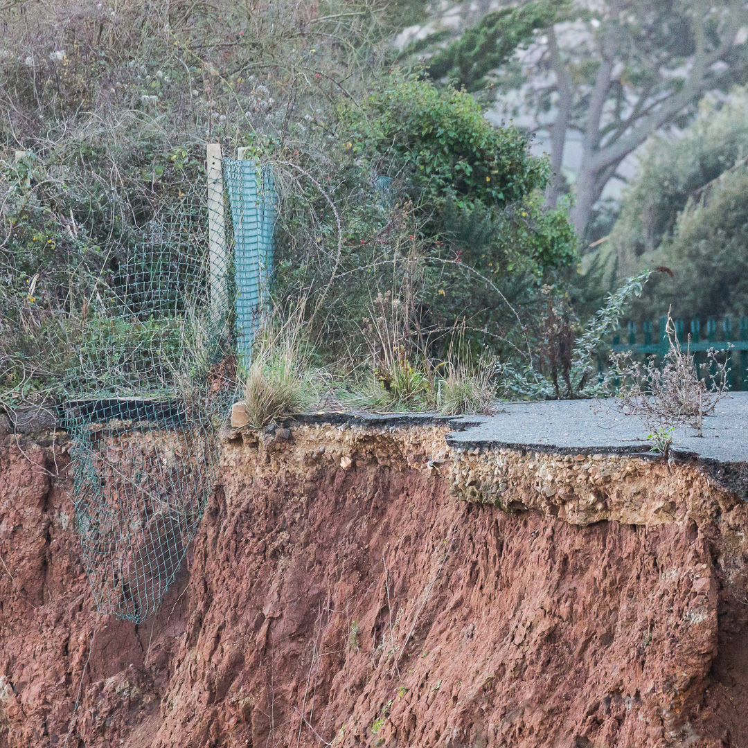 Old Beer Road collapse, Seaton, Devon.