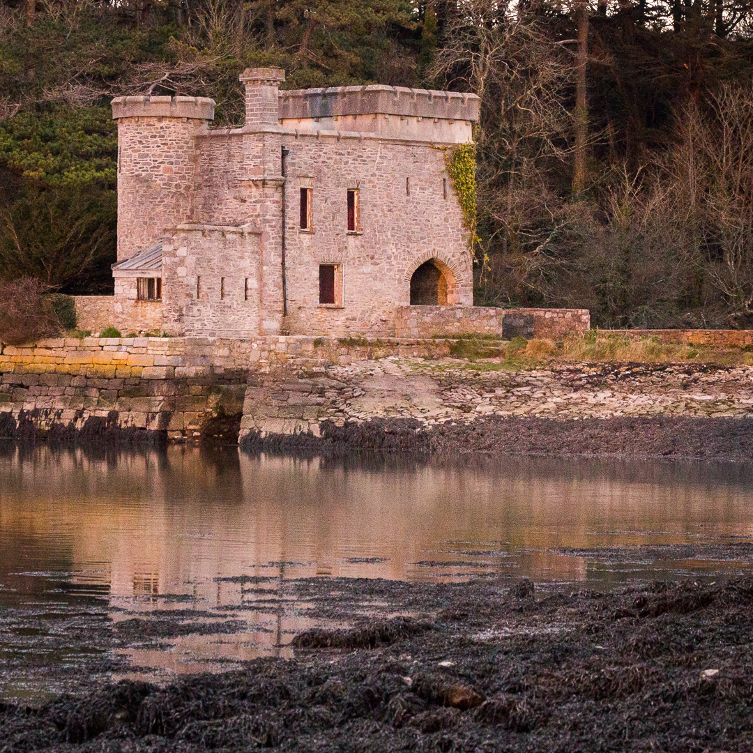 Radford Castle a 19th-century folly, Plymouth, Devon.