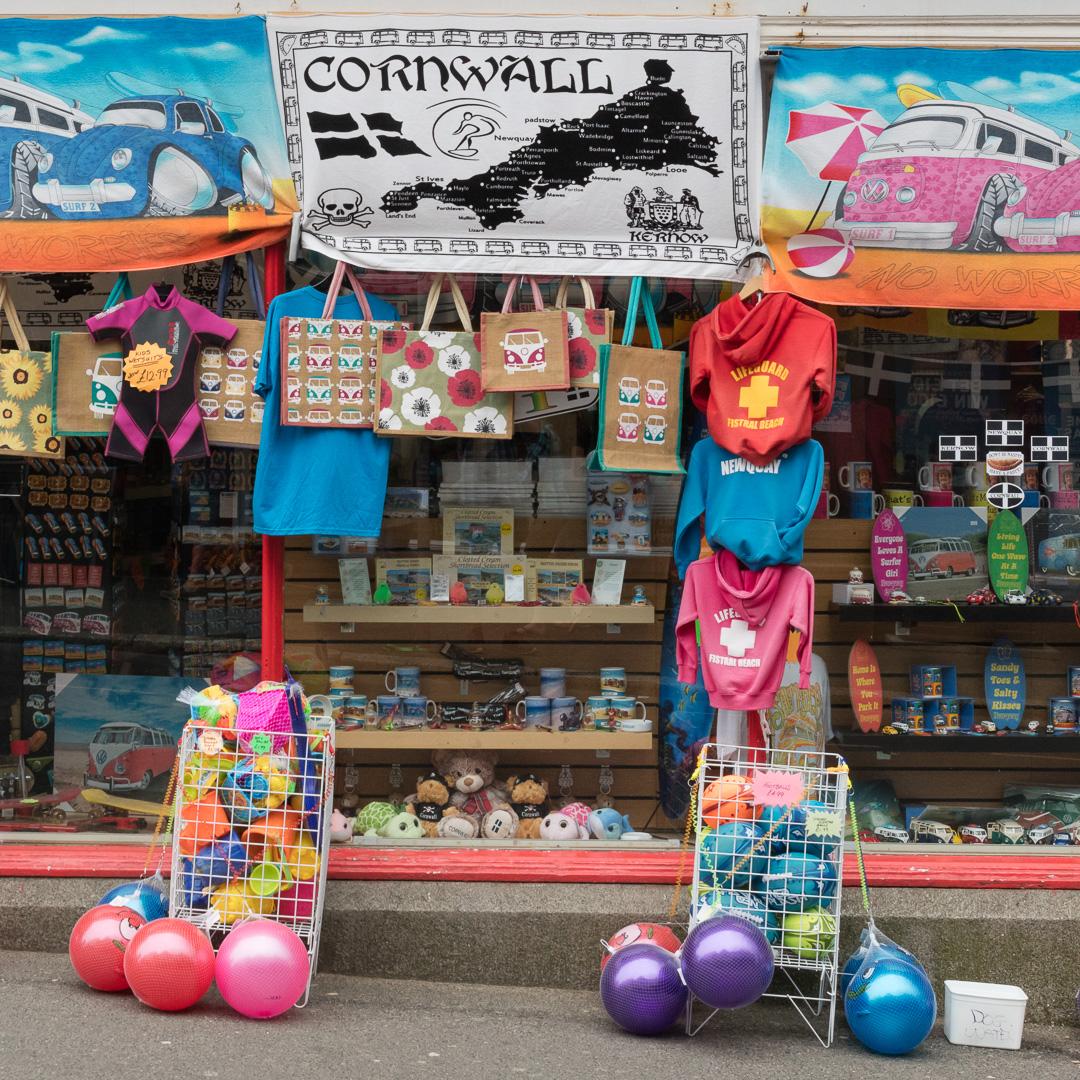Souvenir shop, Newquay, Cornwall.