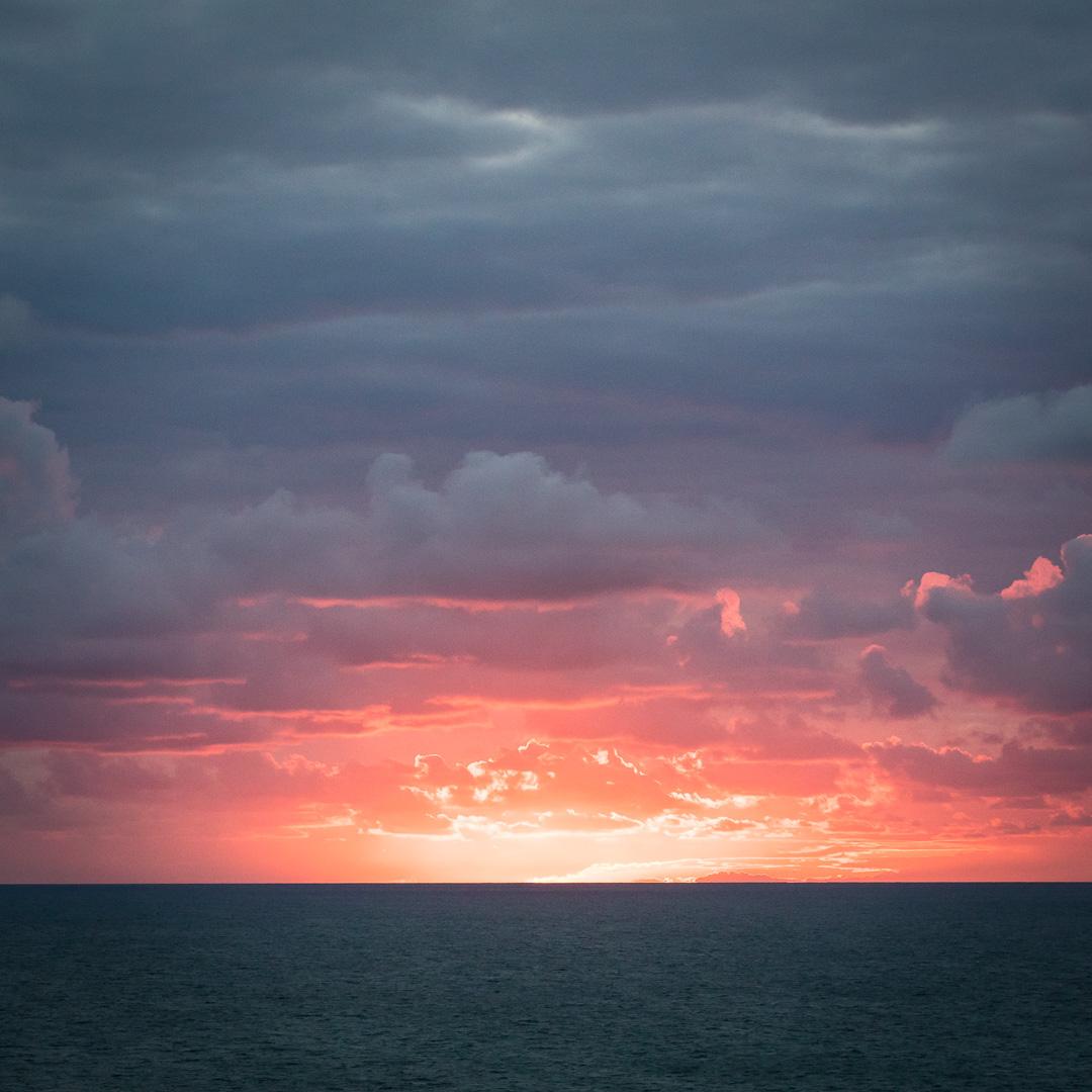 Last light, Tresungers Point, Cornwall.