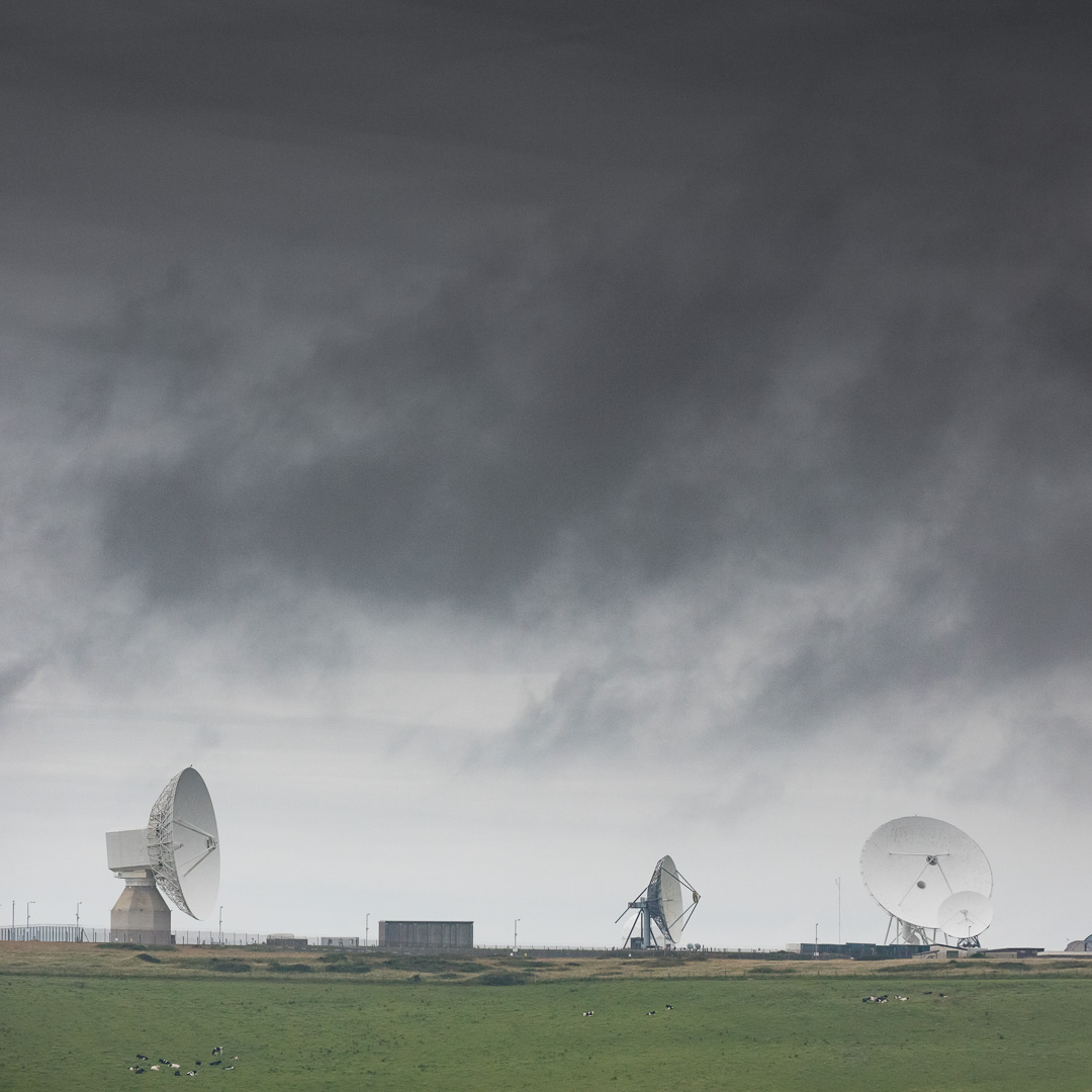 GCHQ Bude I, a satellite ground station and eavesdropping centre, Cornwall.