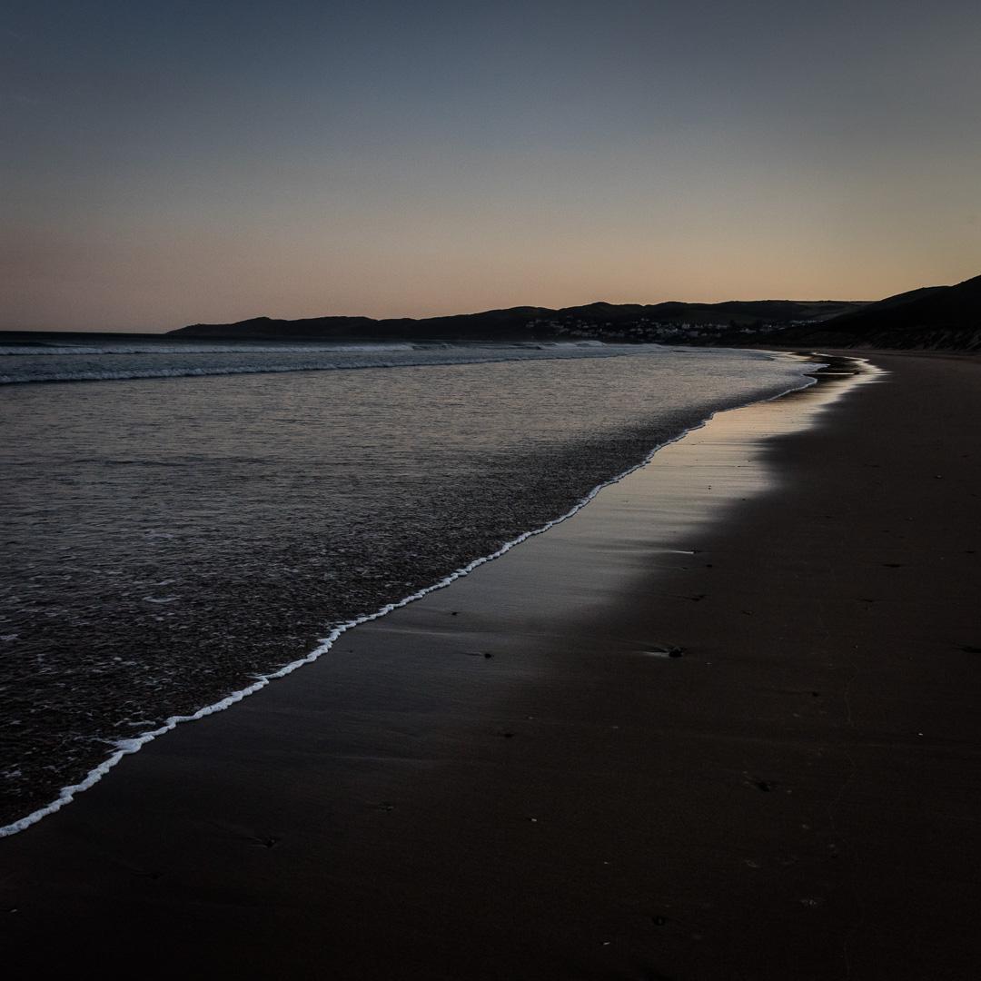 First light, Woolacombe Sand, Devon.