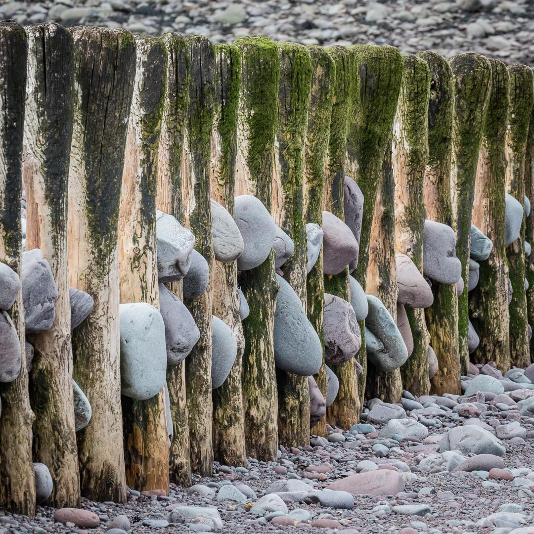 Groynes, Porlock beach, Somerset.
