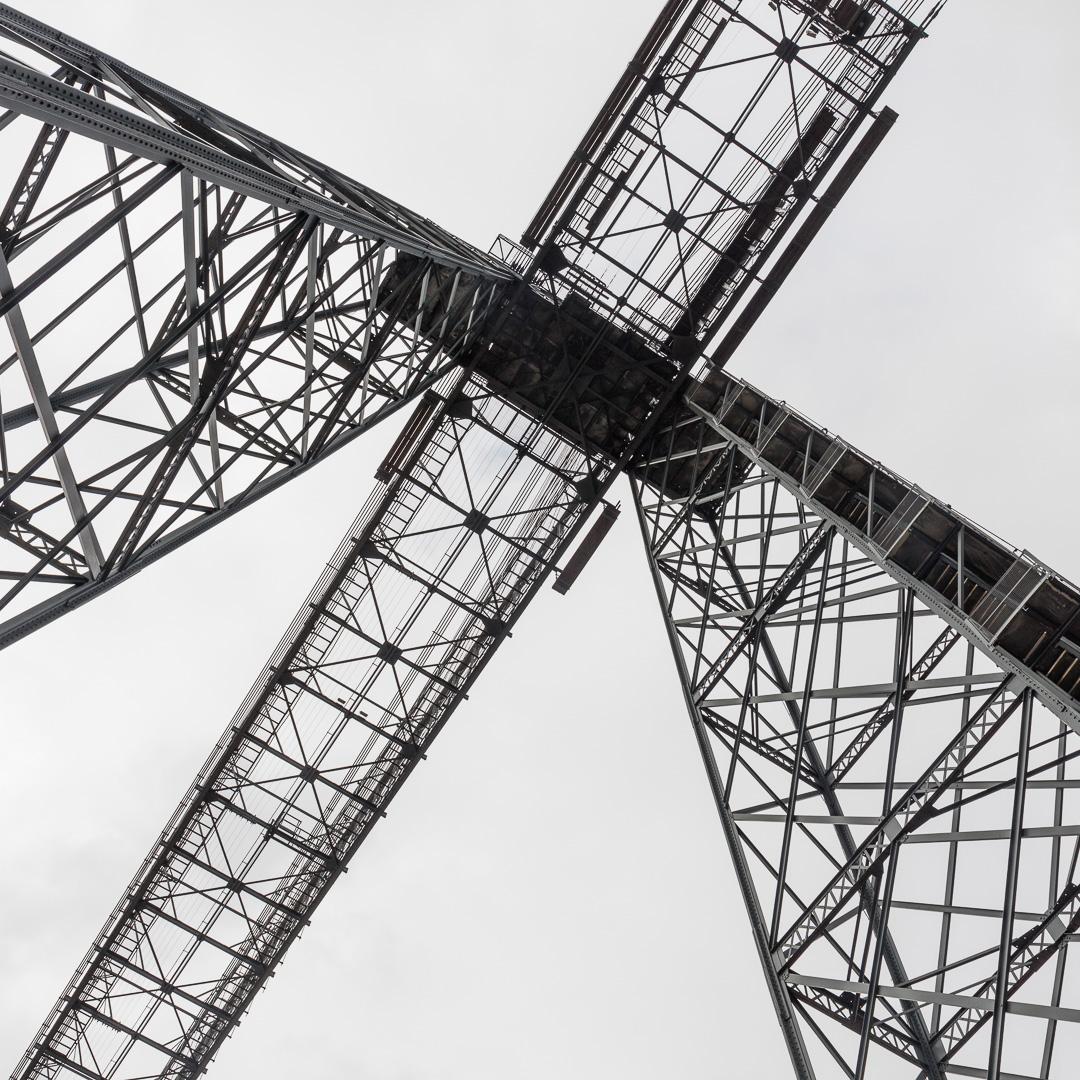 Newport Transporter Bridge, opened 1906, River Usk, Newport, Gwent.