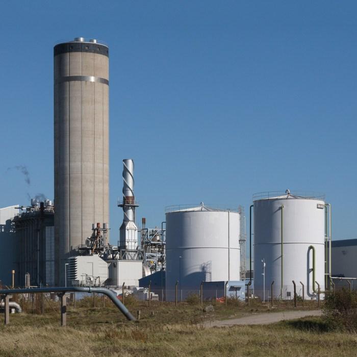 Baglan Bay power station, a gas-fired power station, Glamorgan.
