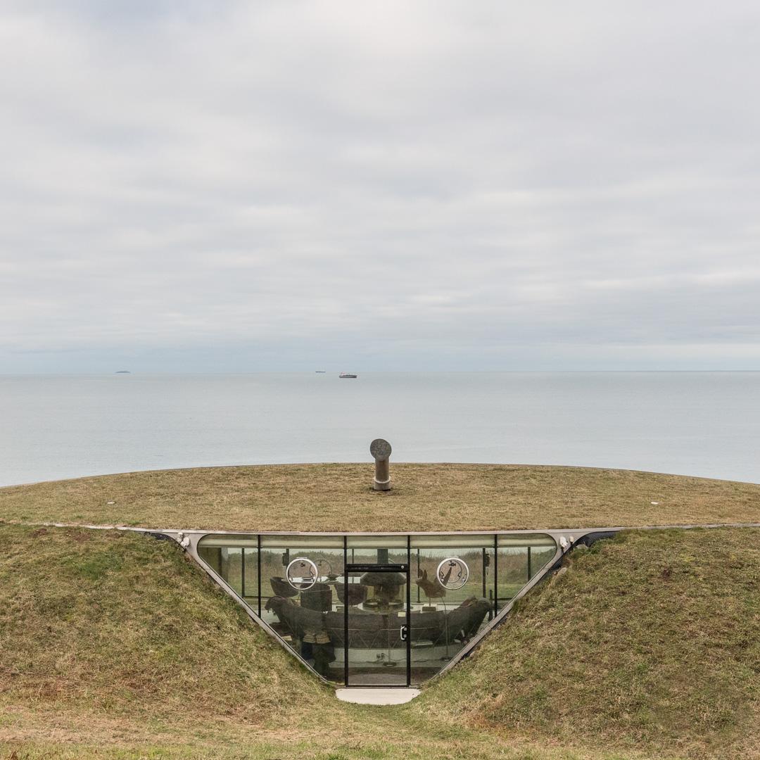 Malator entrance and St Bride's Bay. Architect: Future Systems. Druidston Haven, Pembrokeshire.