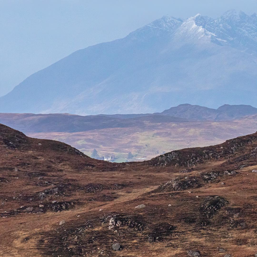 The Cuillin Hills on Skye from North Morar, Scotland.