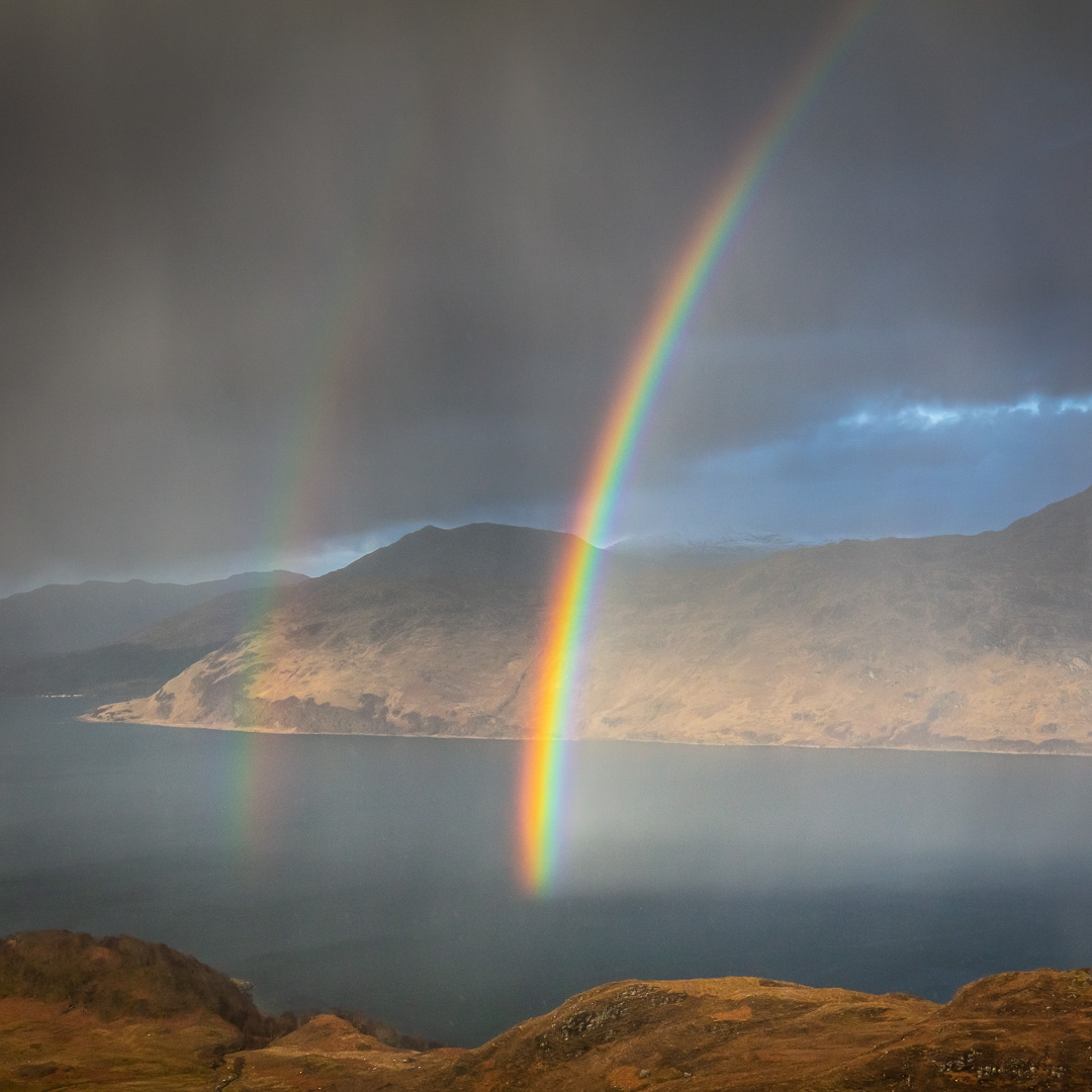 Hailbow over Loch Nevis and Knoydart I, North Morar, Scotland.