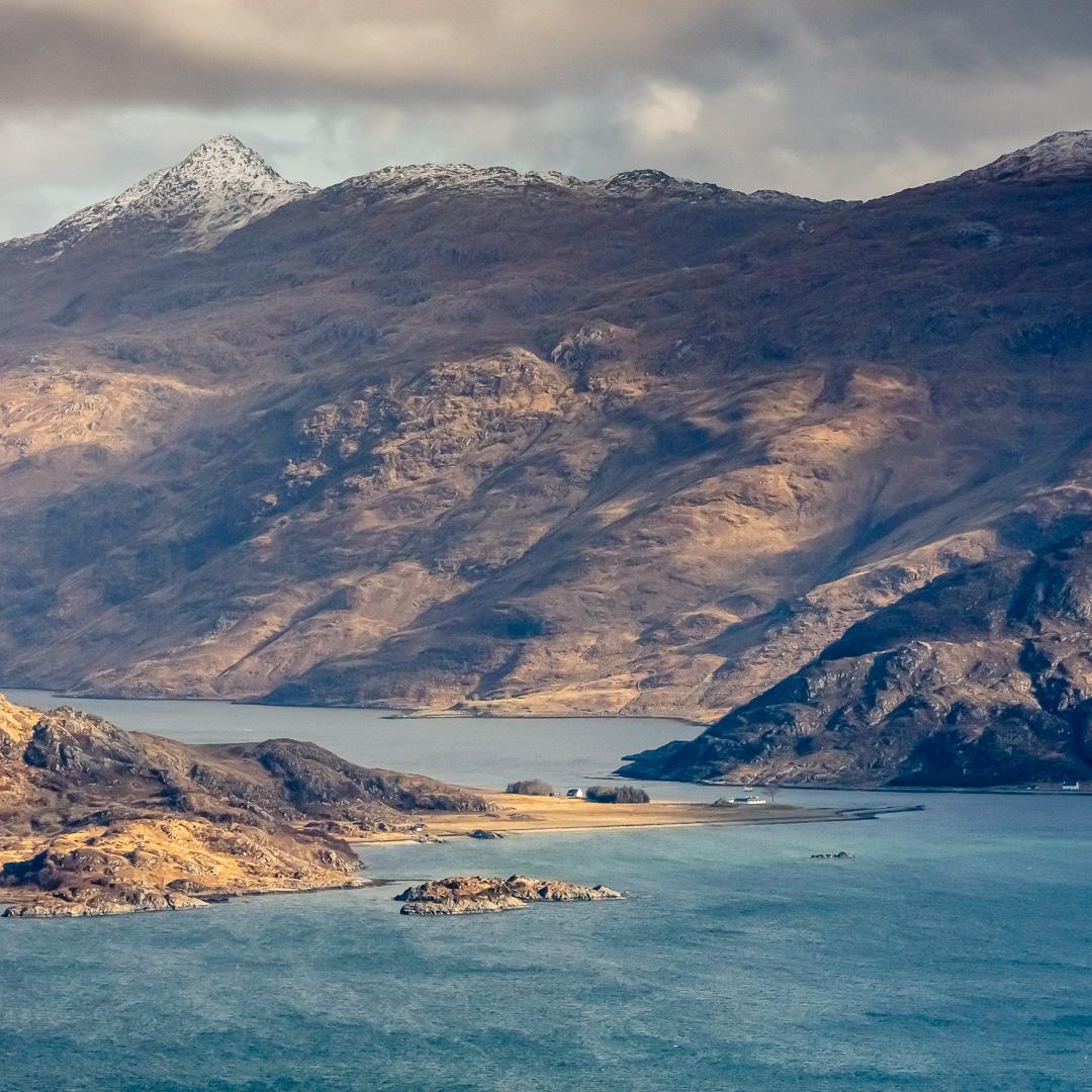 Loch Nevis and Kylesknoydart from North Morar, Scotland.