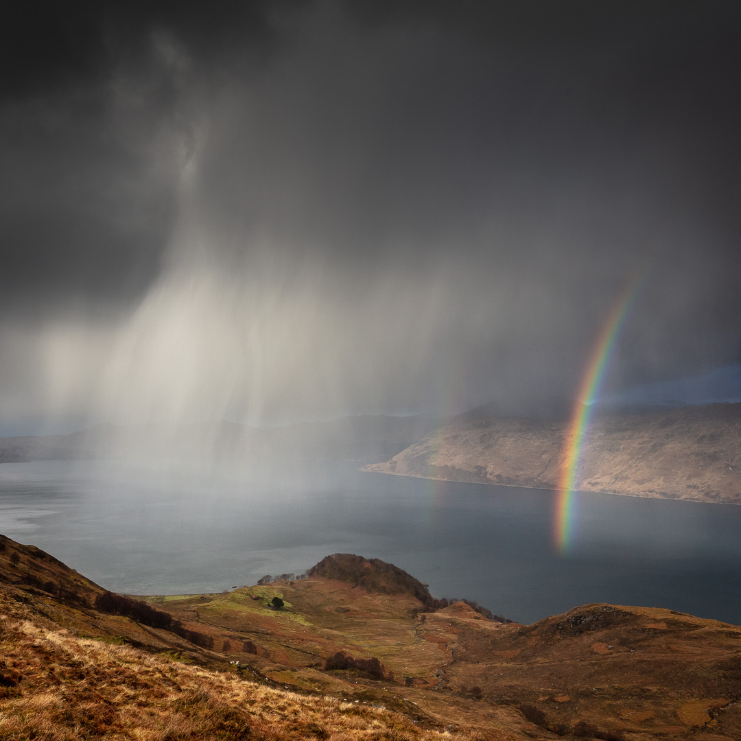 Scottish sublime. North Morar in the foreground with Knoydart be