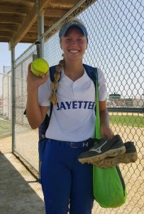 Emma Olejniczak has reason to smile: Her 16-strikeout gem against Creston in the consolation semifinals set a 4A state tourney record for most strikeouts in a seven-inning game. It is almost the most strikeouts in a seven-inning game, in any class, since the tourney went to five classes in 2012.