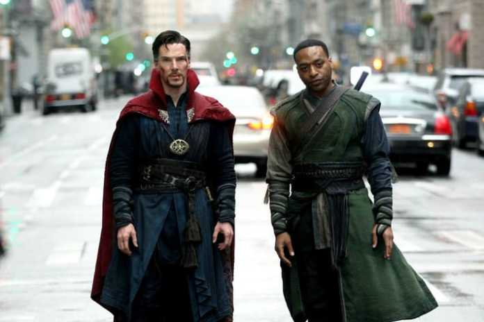 Doctor Strange (Benedict Cumberbatch) and Karl Mordo (Chiwetel Ejiofor). Courtesy of Marvel Studios