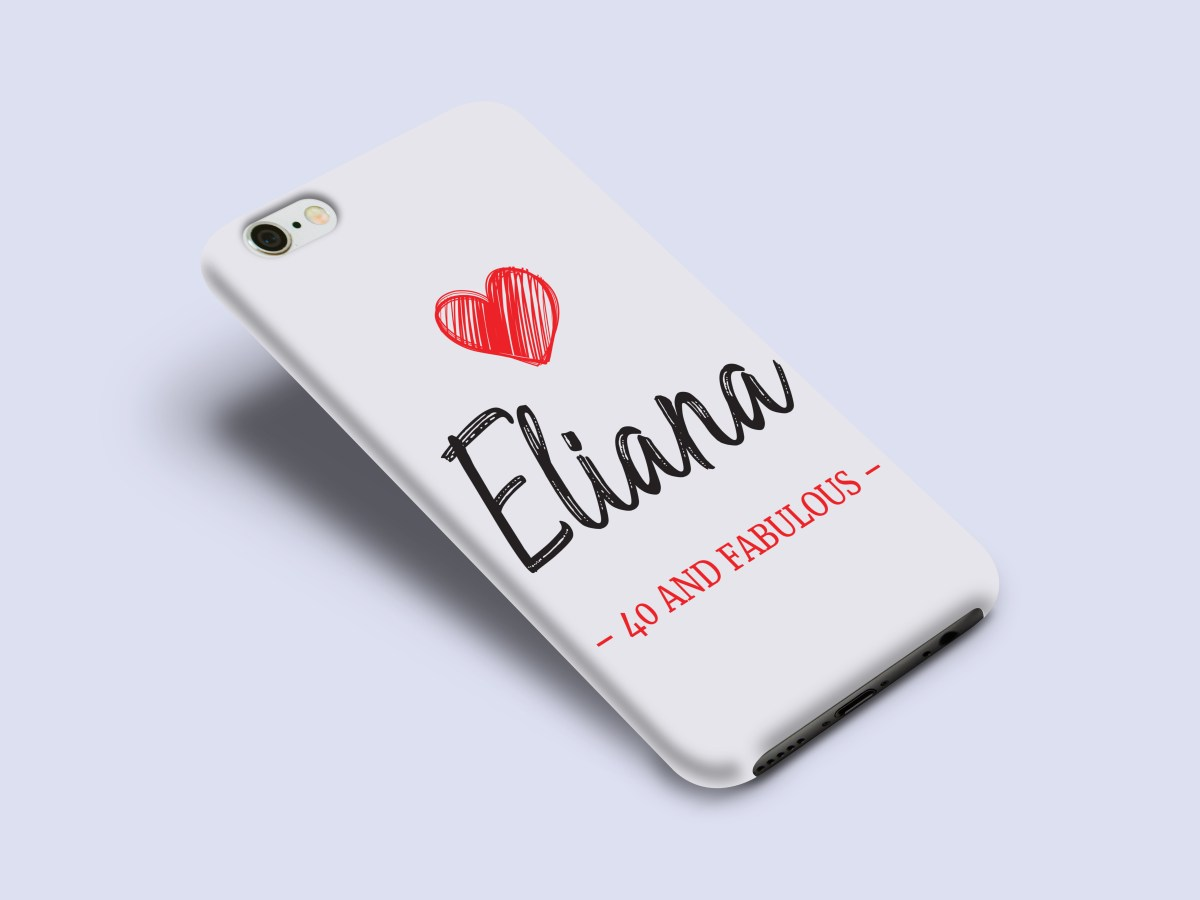 personalized phone case with name and text