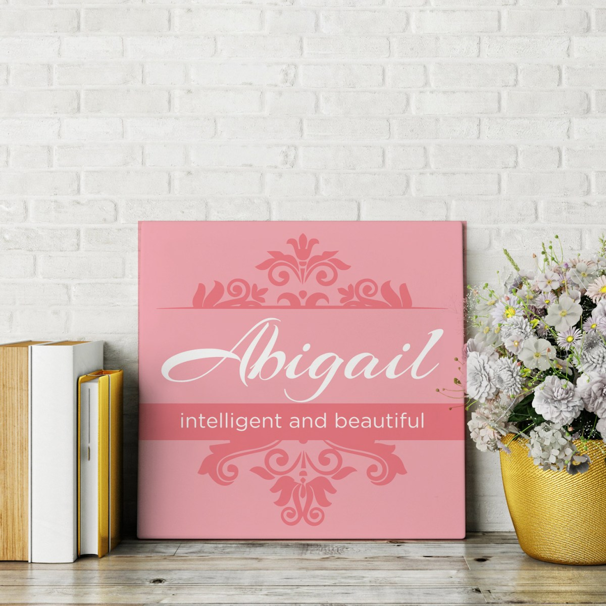 personalized name canvas with name and it's meaning