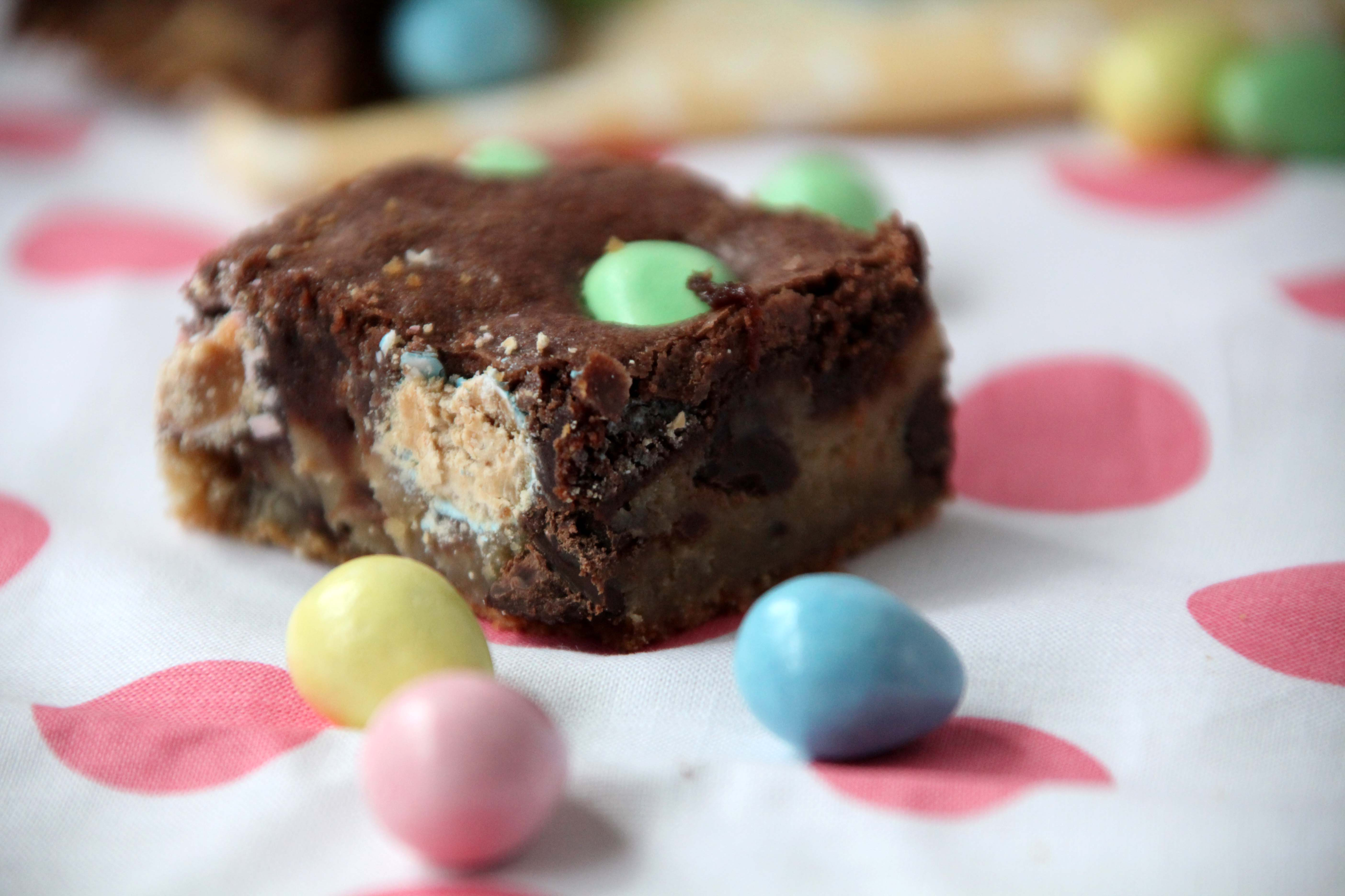Chocolate Chip Cookie Reese's Pieces Brownies | The Pescetarian ...