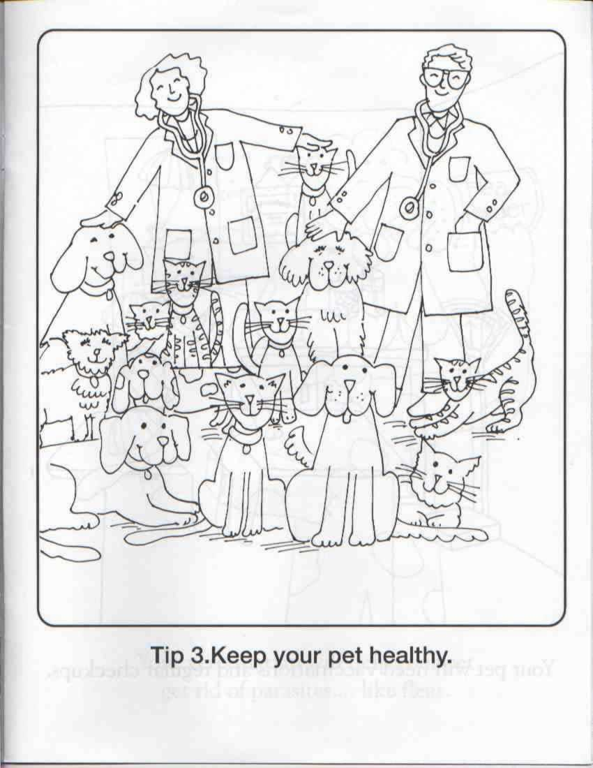 Adoption Animal Coloring Pages Coloring Pages