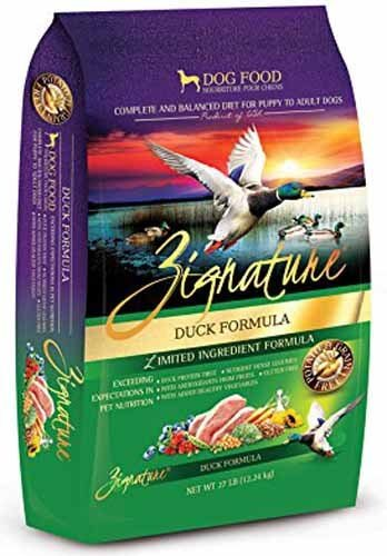 zignature duck dog food
