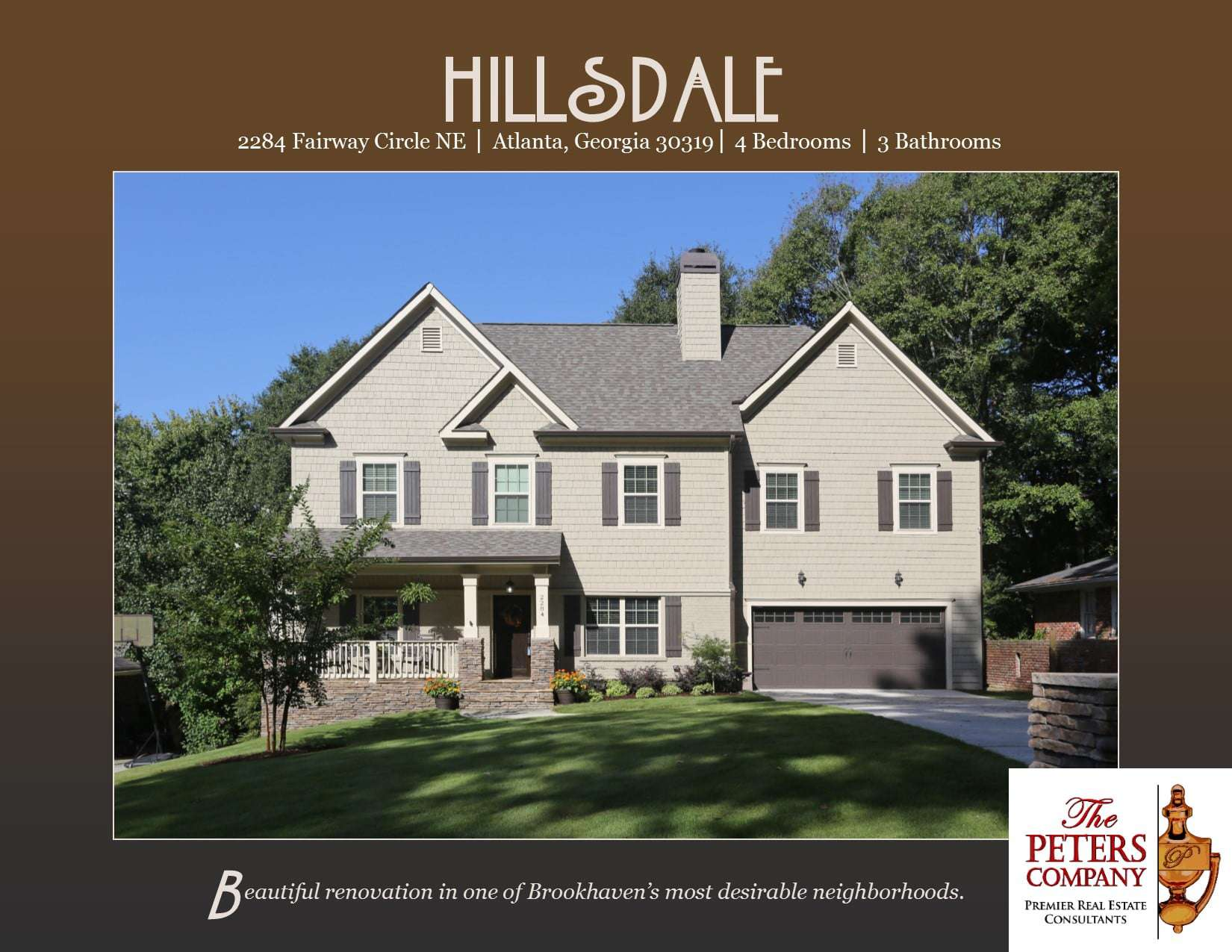 Just Listed :: Amazing Renovated Home in Brookhaven's Hillsdale | The Peters Company