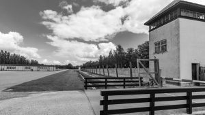 Guard Towers and Fencing at Dachau Concentration Camp
