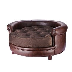 Large Dog Sofas What Is The Best Sofa Bed Replacement Mattress Villacera Chesterfield Faux Leather Designer ...