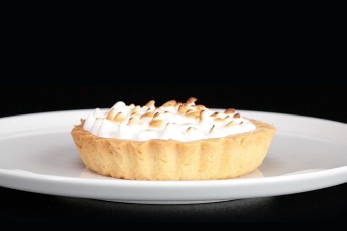 Showstopping Meringue Pie with Black Cherries - A michelin-star dessert easy and simple to replicate.