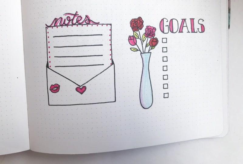February 2018 Bullet Journal Inspiration Amp Free Printable