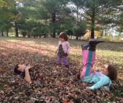 Nothin like playing in the fall leaves!!