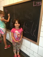 Liza learned to write the letter L!