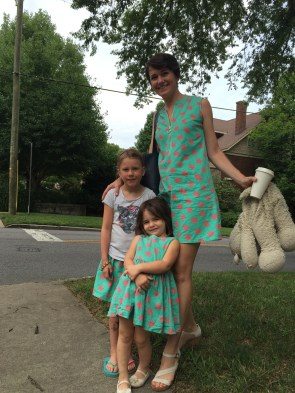 Turtle print matching outfits!