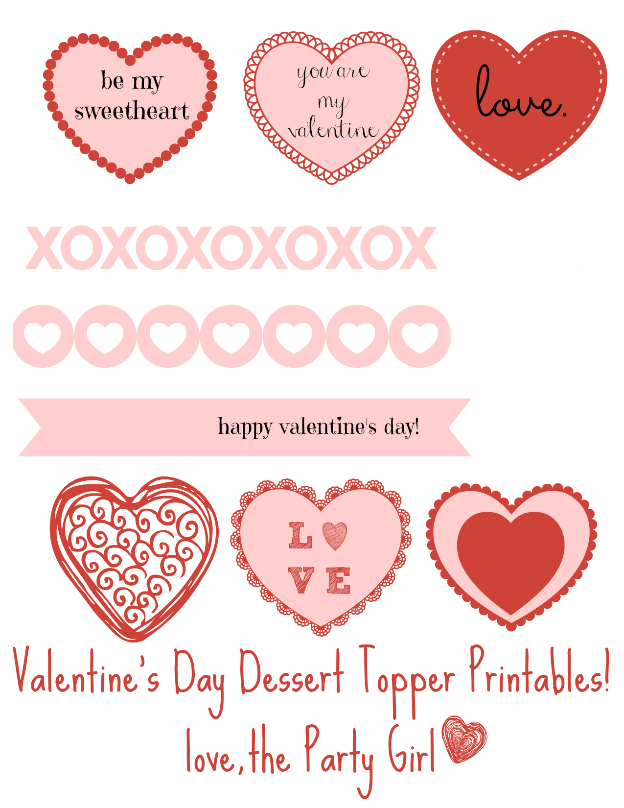 Valentine S Day Printables Cupcake Toppers