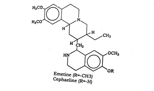 Ipecacuanha Chemical constituents