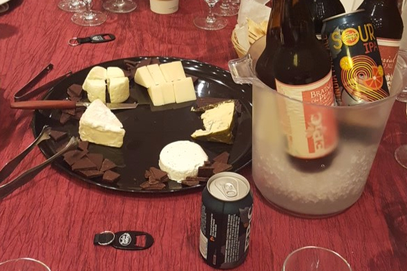 Cheese, chocolate, and beer pairing at ACS 2017.