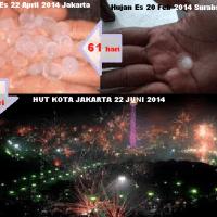 ~[Misteri Ilahi] Terungkap Tanda Misterius Saat Hujan Es di Jakarta Yang Tidak Biasanya~