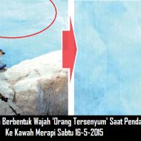 Foto Penampakan Aneh Saat Pendaki Jatuh Ke Kawah Gunung Merapi