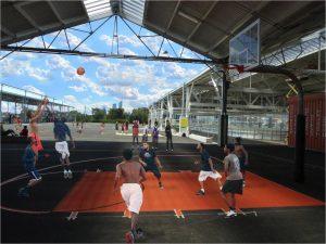 Philadelphia Youth Basketball court rendering.