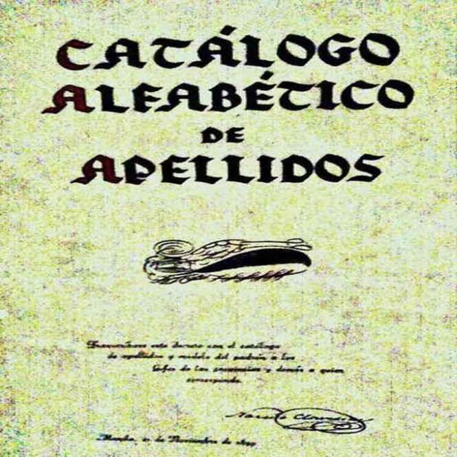 Catalogo Alfabetico de Apellidos