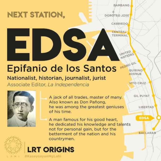 edsa lrt station map