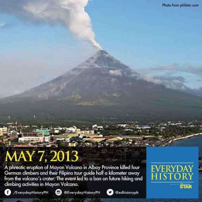 mayon volcano erupting may 7