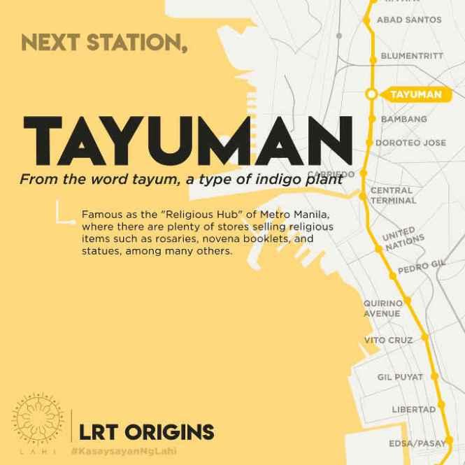 tayuman lrt station map