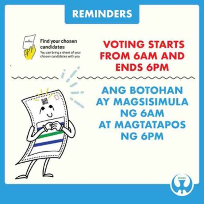voting starts at what time