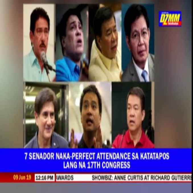 philippine senate members with perfect attendance