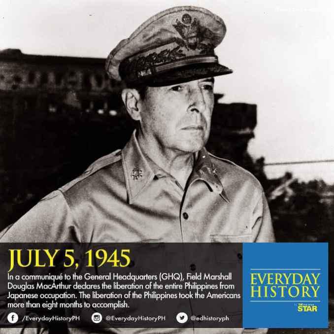 douglas macarthur july 5 1945