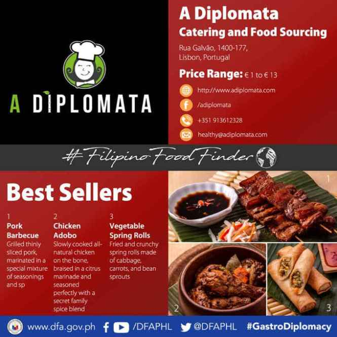a diplomata catering and food sourcing