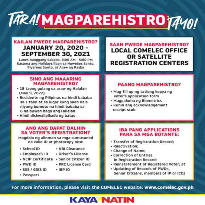 early comelec registration
