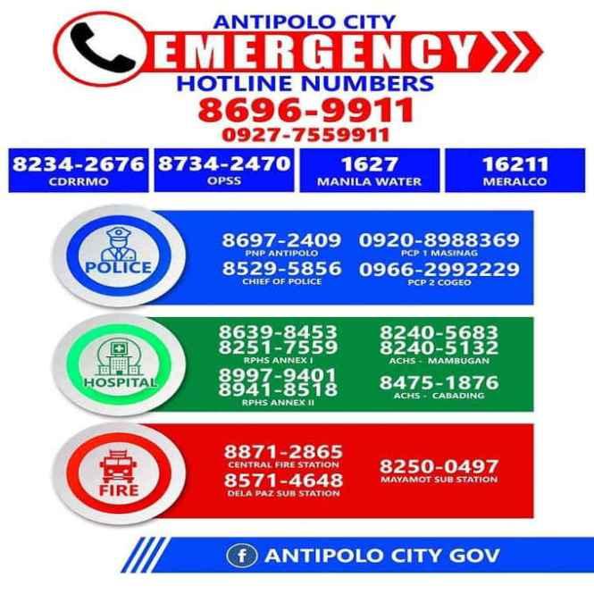 antipolo city government hotline