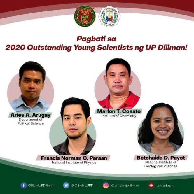 outstanding young scientist of up diliman