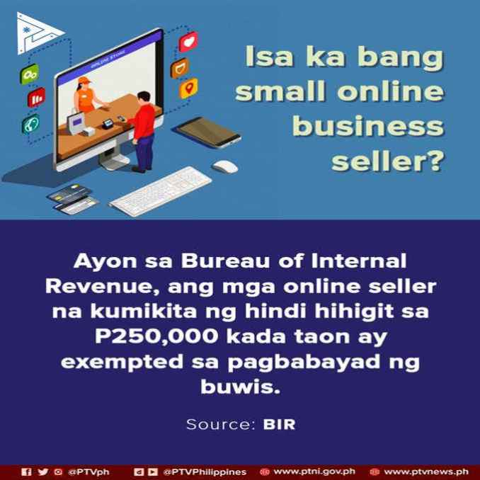 is selling online taxable in the philippines