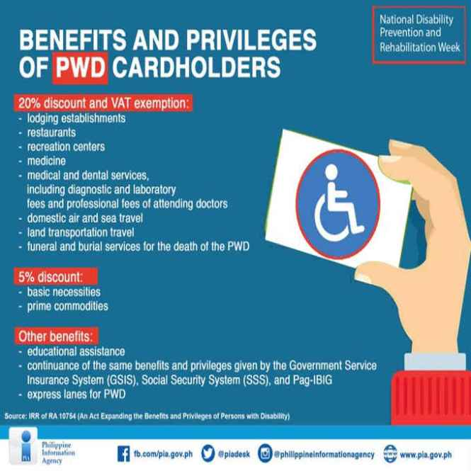 pwd benefits