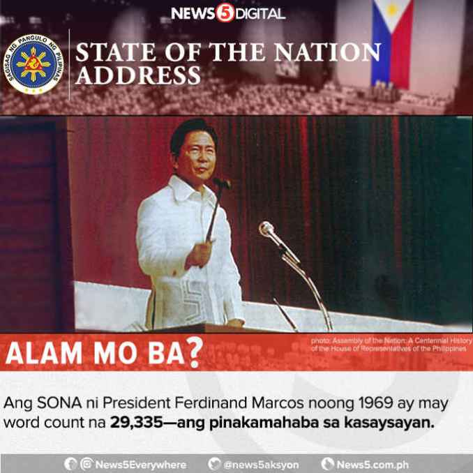 the longest state of the nation address